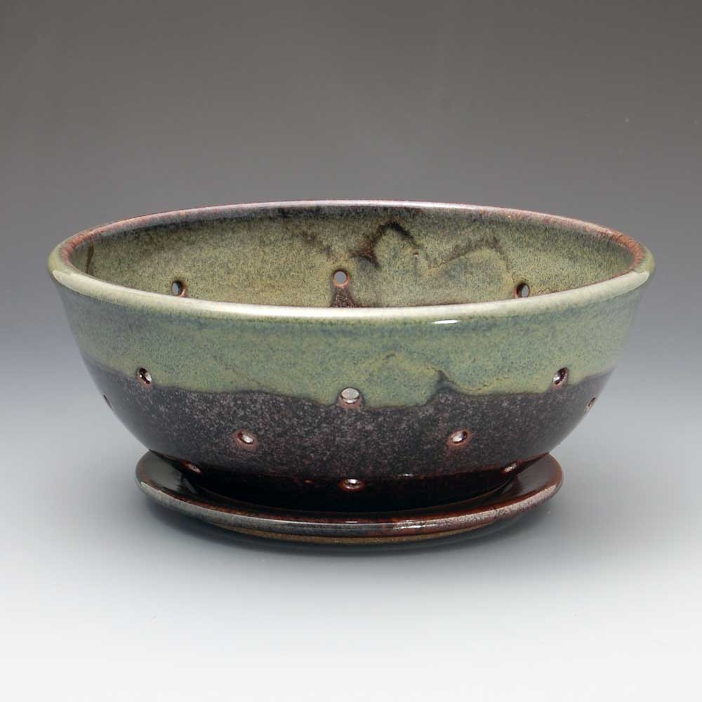 Berry Bowl, Brown/Green Glaze