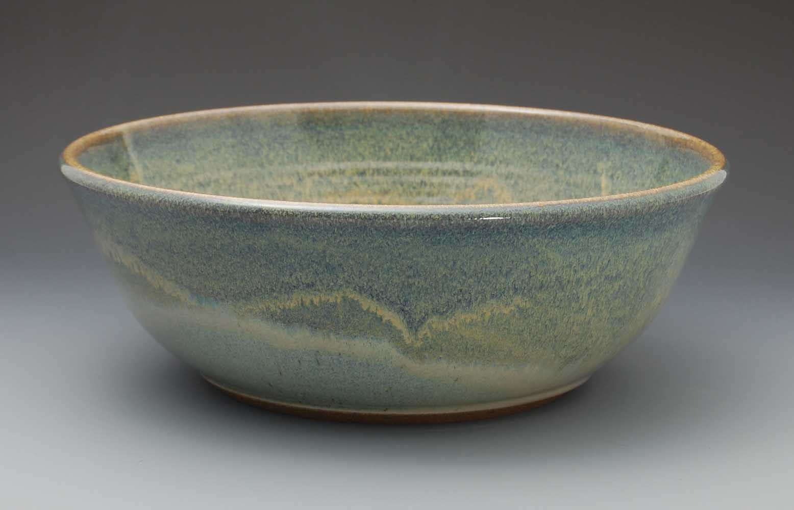 Large Bowl, Light Blue Glaze