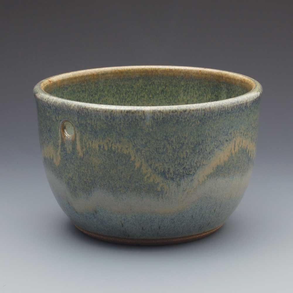 Yarn Bowl, Blue Glaze