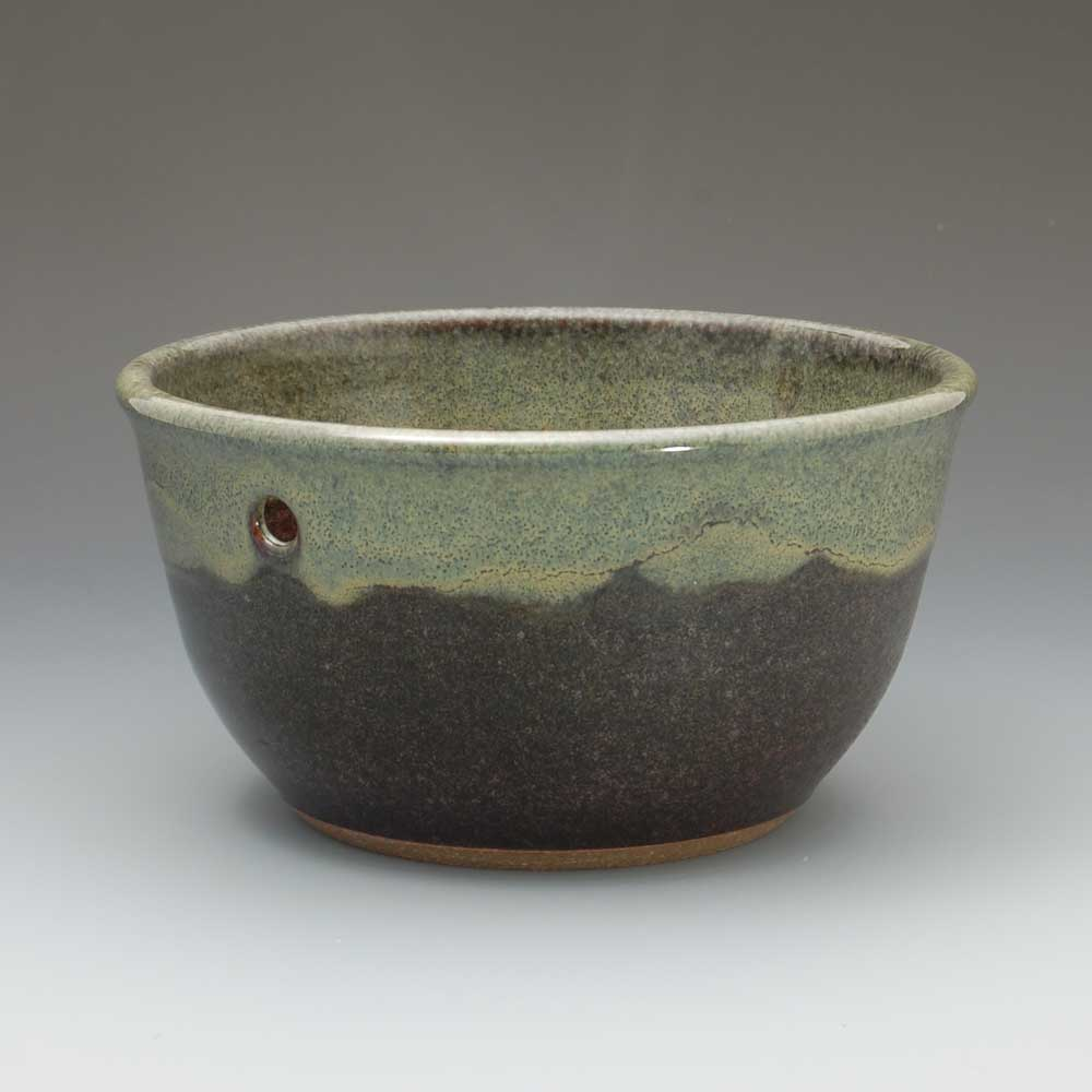 Yarn Bowl, Brown/Green Glaze