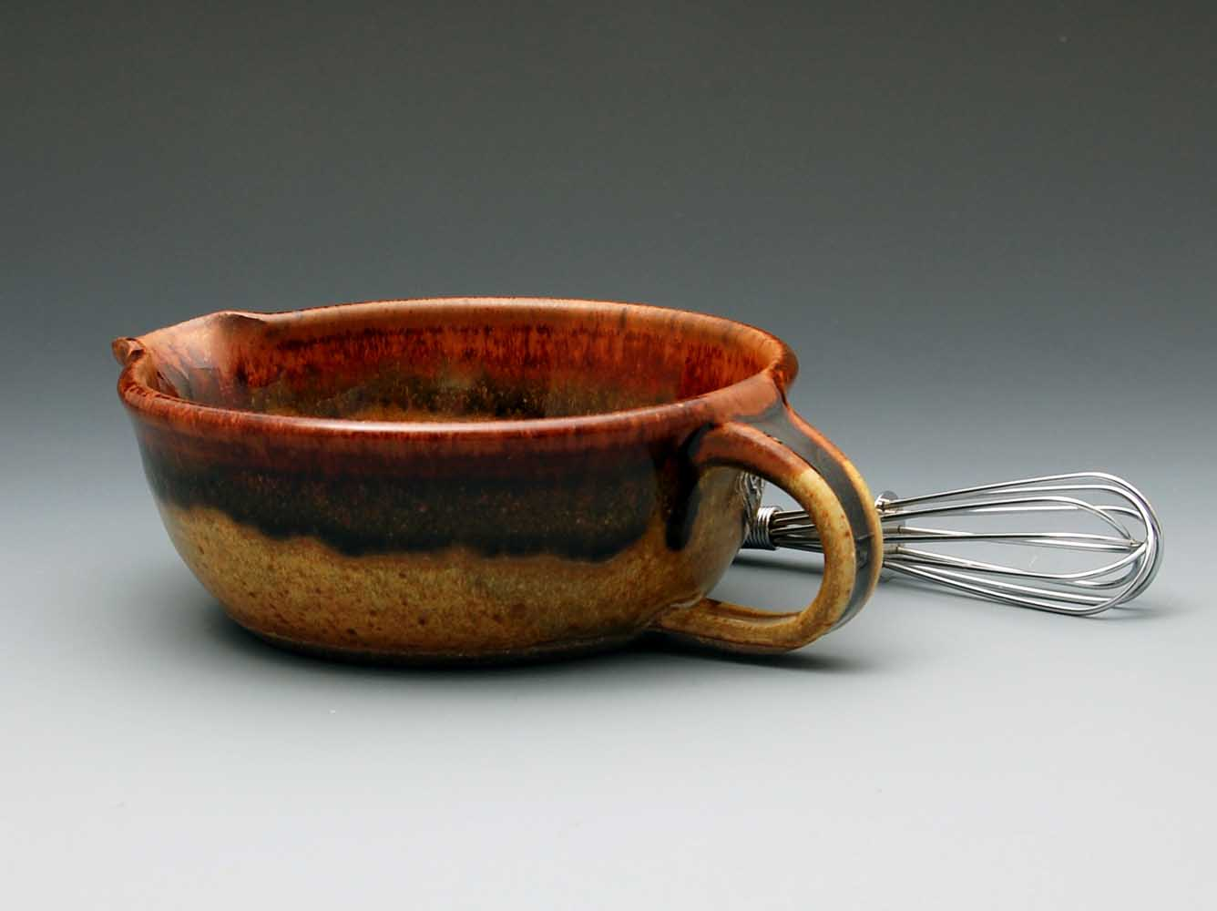 Whisk Bowl, Tan Glaze